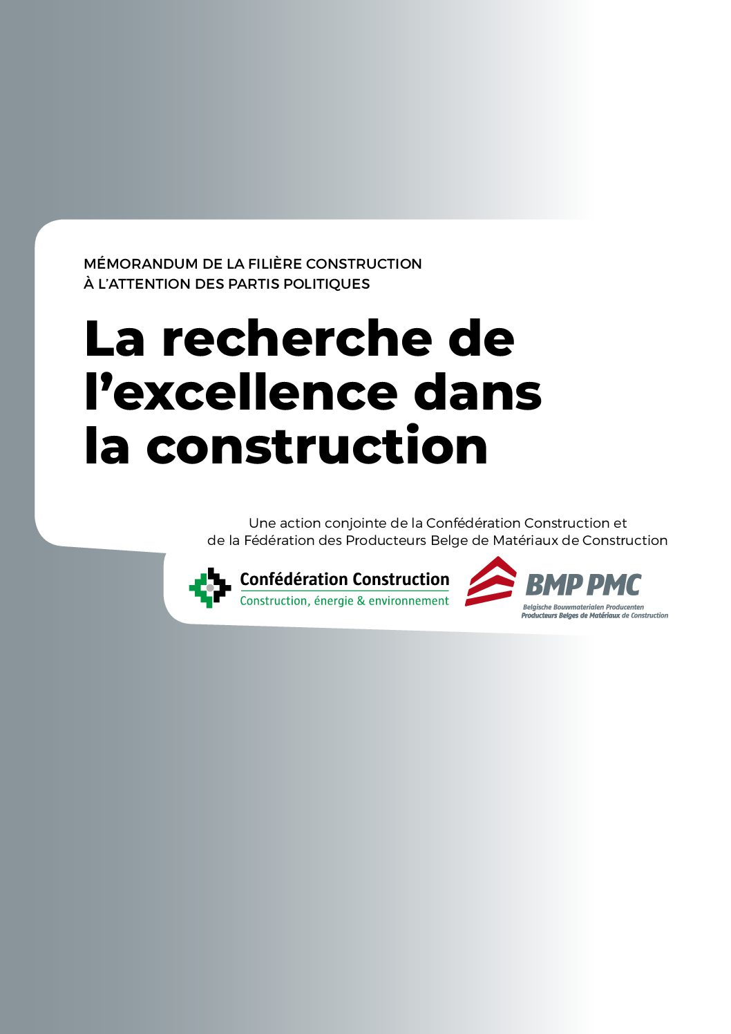 Mémorandum commun du PMC et Conféderation de la Construction – 2019